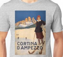 Vintage poster - Cortina d'Amprezzo Unisex T-Shirt