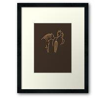 Two Horses VRS2 Framed Print