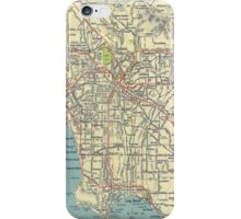 Vintage Los Angeles Map iPhone Case/Skin