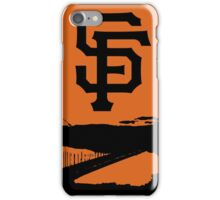 San Francisco Giants and the Golden Gate bridge iPhone Case/Skin