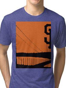 San Francisco Giants and the Golden Gate bridge Tri-blend T-Shirt