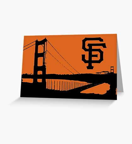 San Francisco Giants and the Golden Gate bridge Greeting Card