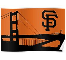 San Francisco Giants and the Golden Gate bridge Poster