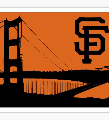 San Francisco Giants and the Golden Gate bridge Sticker