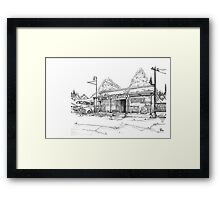Dixie Grey Framed Print