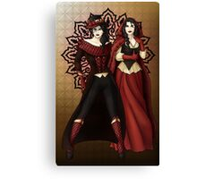 The Queen and Red Riding Hood Canvas Print