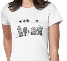 Bird song Womens Fitted T-Shirt