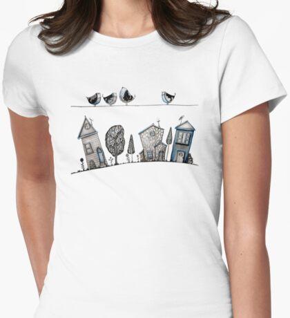 Bird song Womens Fitted T-Shirt