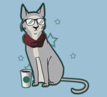 Hipster Cat Kids Tee