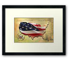US Map Framed Print