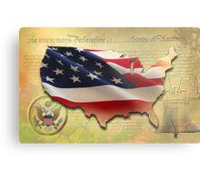 US Map Metal Print