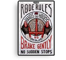 Road Rules 4 Canvas Print