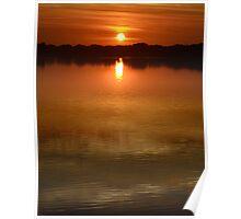 Clear Lake Sunrise Poster