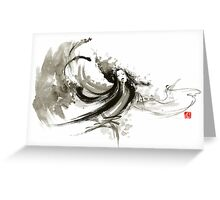 Geisha dancer dancing girl Japanese woman original painting  Greeting Card