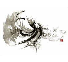 Geisha dancer dancing girl Japanese woman original painting  Photographic Print