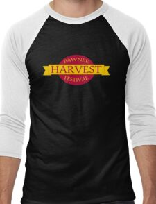 Pawnee Harvest Festival logo Men's Baseball ¾ T-Shirt