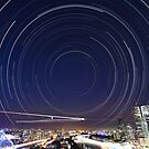 Startrail II | Brisbane City by NickVerburgt