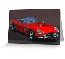 Ferrari Roadster Greeting Card
