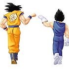 """Bros"" Goku and Vegeta Fist Bump by BroFistDBZ"