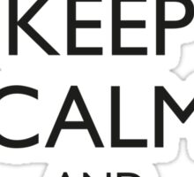 Keep Calm and Wireframe (for light coloured tops) Sticker