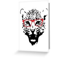 Nerdy Leopard Greeting Card