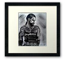 Strength and honour Framed Print