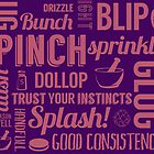 Kitchen measures typography - purple by digestmag