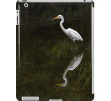 Reflected egret for iPad iPad Case/Skin