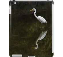 Reflected egret for iPad iPad Case/Skin