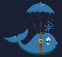 Sky Diving Whale VRS2 Kids Clothes