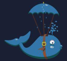 Sky Diving Whale VRS2 Kids Tee