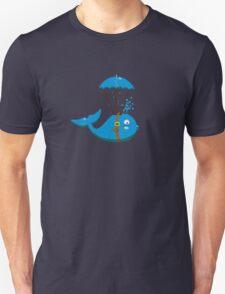 Sky Diving Whale VRS2 T-Shirt