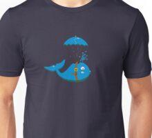 Sky Diving Whale VRS2 Unisex T-Shirt