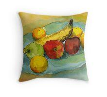 A Gathering of Fruit Throw Pillow