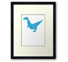 Dino Origami Style Framed Print