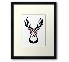 Nerdy Deer  Framed Print