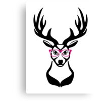 Nerdy Deer  Canvas Print