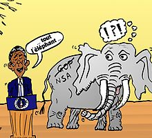 Obama et l'éléphant de la NSA by Binary-Options