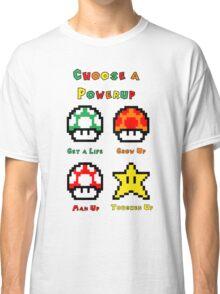 Mario Mushrooms 2 Classic T-Shirt