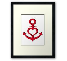 Anchor Heart Framed Print