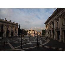 Michelangelo's Wonderful Square - Piazza del Campidoglio, Rome Photographic Print