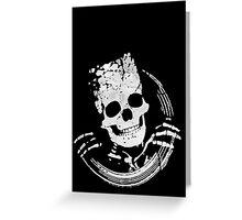 Grunge Skeleton Funny Design T-Shirt Greeting Card