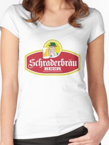 Schraderbrau Logo Women's Fitted Scoop T-Shirt
