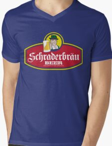 Schraderbrau Logo Mens V-Neck T-Shirt