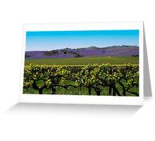 Barossa Hillside Landscape Greeting Card