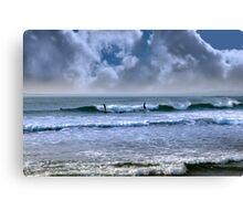 atlantic ocean storm surfing Canvas Print