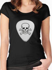 Skull & Bones Plectrum Women's Fitted Scoop T-Shirt