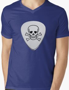 Skull & Bones Plectrum Mens V-Neck T-Shirt