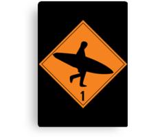 Danger Sign Canvas Print