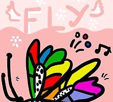 Moth flight over land by Studio79
